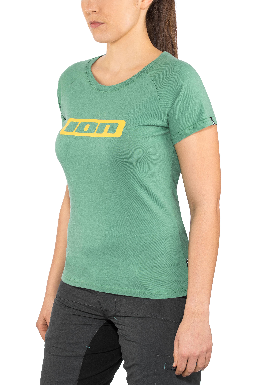 63bcdf22 ION Logo T-Skjorte Dame sea green | Gode tilbud hos bikester.no